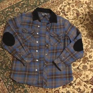 RVCA Winston flannel long sleeve w/corduroy detail